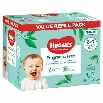 AU12.95 • Buy Huggies Wipes Fragrance Free 400 Pack