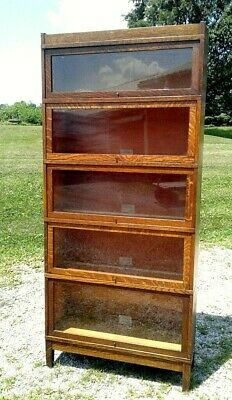 $950 • Buy Antique Barrister Bookcase 5 Stack Globe Wernicke 1930 Era Arts And Crafts