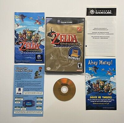 $44.95 • Buy Legend Zelda Wind Waker Nintendo GameCube K-Mart Exclusive Black Label COMPLETE!