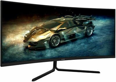 AU399.24 • Buy Viotek GNV34DB 34  Ultrawide Gaming Monitor HDMI Curved QHD VA Panel 100Hz 1440p