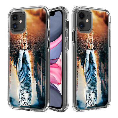 AU8.98 • Buy 2in1 TPU + PC Hybrid Transparent Case Cover For IPhone LG K30 Moto E5 X5 G7 G8