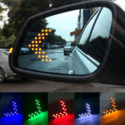 $1.30 • Buy 2x Auto Car Side Rear View Mirror 14 SMD LED Lamp Turn Signal Light Accessories