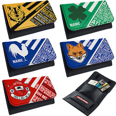 Retro Football Tobacco Pouch Baccy Wallet  Personalised Birthday Gift ALL TEAMS • 9.95£
