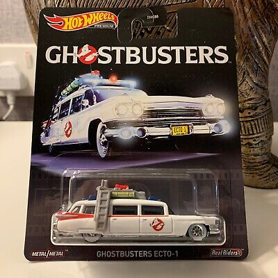 Hot Wheels Premium Retro Entertainment Real Riders Ghostbusters Ecto-1 • 10£