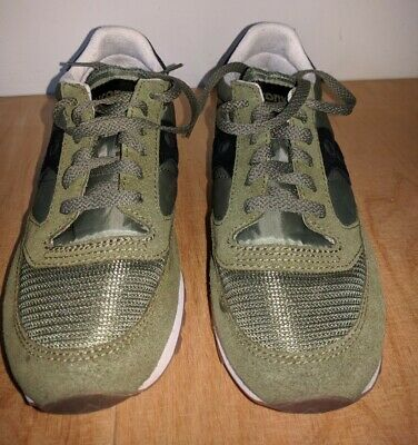 Saucony Jazz Vintage Trainers, Women's Size 6 / 6.5, Black & Olive Green • 35£