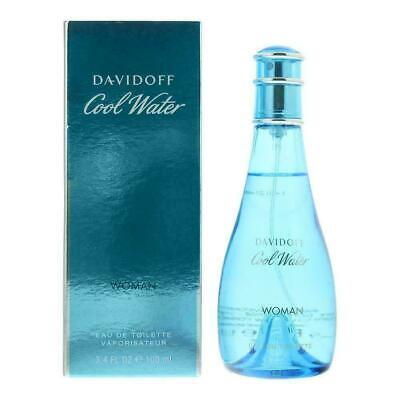 DAVIDOFF Cool Water 100ml EDT For Women Spray BRAND NEW Authentic Free Delivery • 16.50£