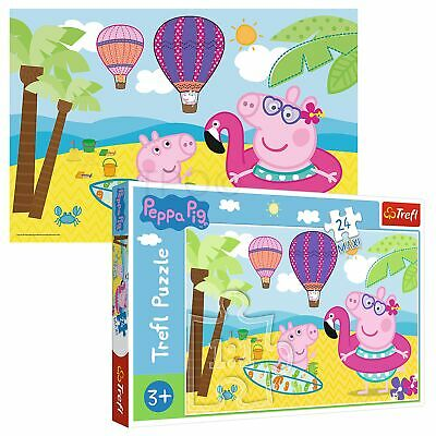 £7.99 • Buy Trefl 24 Maxi Piece Kids Large Peppa Pig On Her Holiday Fun Jigsaw Puzzle NEW