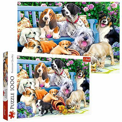 £8.99 • Buy Trefl 1000 Piece Adult Large Cute Dogs In The Garden Play Fun Jigsaw Puzzle NEW