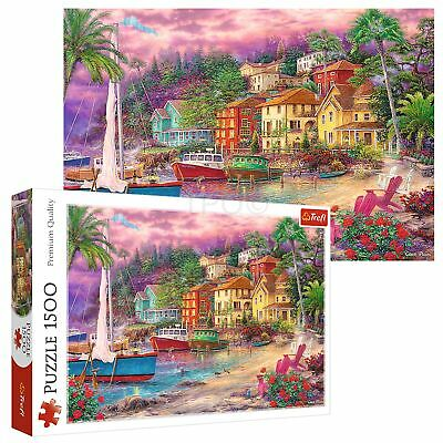£10.99 • Buy Trefl 1500 Piece Adult Large Golden Shores Cottage Beach Sea Boat Jigsaw Puzzle