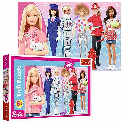 £6.49 • Buy Trefl 100 Piece Kids Large Mattel Barbie You Can Be What You Want Jigsaw Puzzle