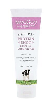 AU17.57 • Buy MooGoo Natural Protein Shot - Leave-In Hair Conditioner 120g