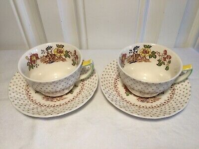 £10 • Buy Pair Of  Royal Doulton 'grantham'   Cups &  Saucers