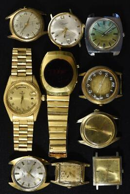 $ CDN63.34 • Buy Vintage Wind-up And Batery Mens Watches Lot Of 10