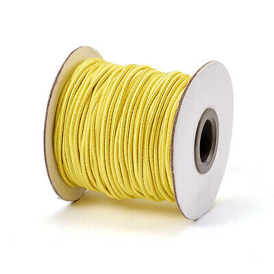 $ CDN13.41 • Buy 30m/roll Gold 2mm Round Elastic Cord With Nylon Outside And Rubber DIY