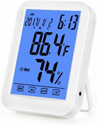 $9.88 • Buy FTRD-TH029 Humidity Monitor Thermometer Gauge Sensor Wireless Indoor With Blue B