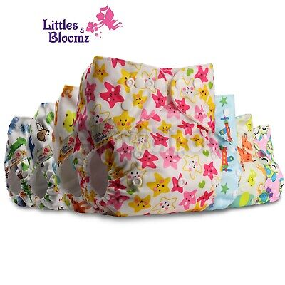 View Details Baby Stoffwindeln Pannolini Pañal Couches Washable Reusable Cloth Nappy Diaper  • 3.09£