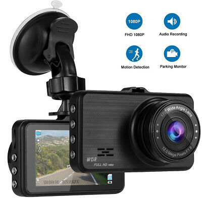 AU76.99 • Buy Super Night Vision & 170° Wide Angle 1080P Full HD Dash Camera For Cars Recorder