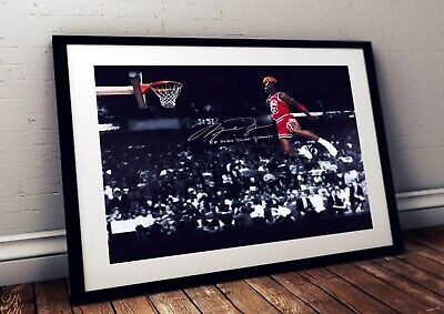 AU22.05 • Buy Michael Jordan Chicago Bulls 1988 Slam Dunk NBA Autographed Poster Print