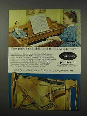 $16.99 • Buy 1960 Baldwin Acrosonic Piano Ad - Childhood Forever