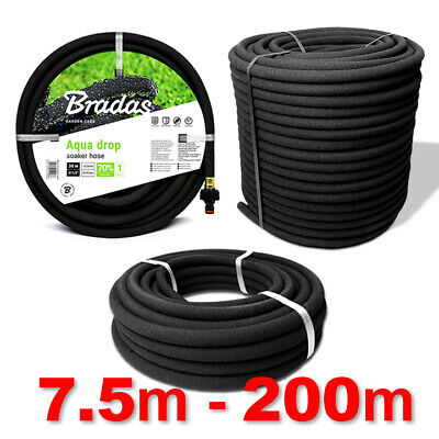 POROUS PIPE Soaker Hose Leaky Garden Irrigation System Thick Wallet >>>7.5m~200m • 31.45£