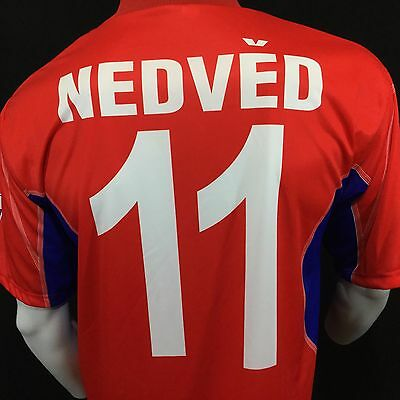 $25.49 • Buy Czech Republic Nedved Jersey Sz XL #11 2004 Portugal Futbol Soccer Mens Red