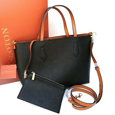 AU129 • Buy New Oroton Liberty Crossbody Tote With Pouch Handbag Shoulder Bag Black Leather