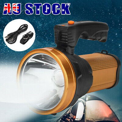AU27.95 • Buy Camping Rechargeable Torch LED Handheld Searchlight Hiking Spotlight Torch NEW