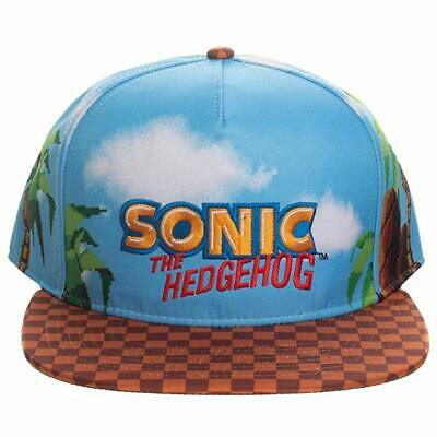 Official Sonic The Hedgehog Logo All Over Print Game Scene Print Snapback Cap • 34.99£