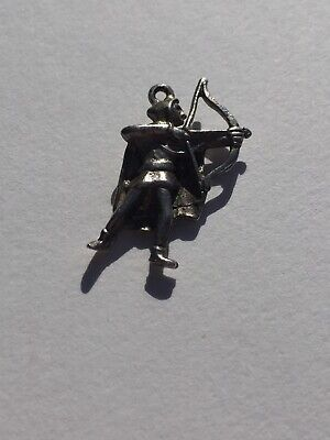 Soldier With Bow And Arrow Sterling Silver Charm 925 • 15£