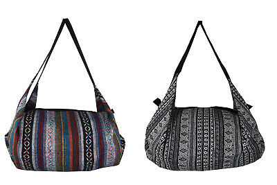 £15.99 • Buy Hippie Boho Bag Holdall Hippy Carrier Patterned Handle Lined Festival Cotton