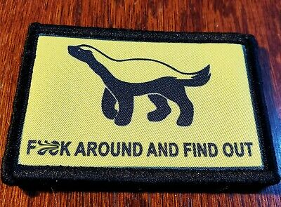 $7.99 • Buy F$%K Around And Find Out Honey Badger Morale Patch Tactical Military Army USA