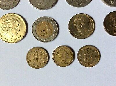 Job Lot Of 19 Foreign Coins , Mixed Lot. • 1.99£