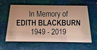 Engraved Bench Plaque 150 X 50mm IN MEMORY OF • 3.55£
