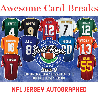 $6.25 • Buy 2019 Gold Rush NFL Jersey Series 3 Edition Box Break #1