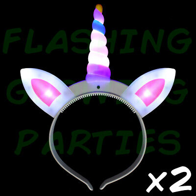 AU15.96 • Buy LED Unicorn Headband X 2