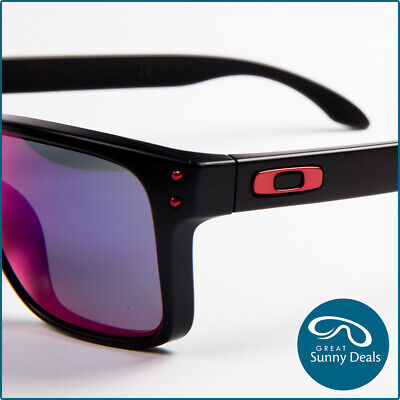 AU149.95 • Buy NEW Oakley Holbrook Matte Black Red Iridium (9102-36) Sunglasses