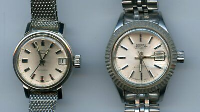 $ CDN28.08 • Buy (2) Vintage Ladies Automatic Watch Lot-Ricoh Medallion 21 Jewels & Wittnauer-AE