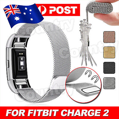 AU7.95 • Buy Stainless Steel Replacement Magnetic Metal Wrist Band Strap For Fitbit Charge 2