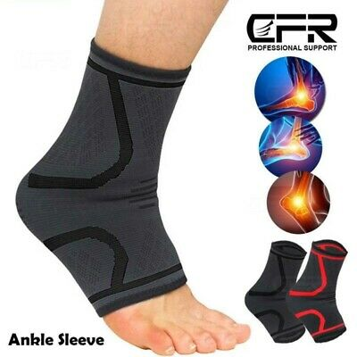 Compresion Ankle Support Protection Sport Socks Gym Sprain Running Injury Sleeve • 5.16£