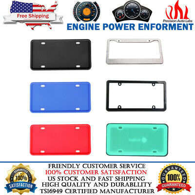 $11.99 • Buy Universal License Plate Frame Holder Cover With Screws Front & Rear COLOR CHOICE