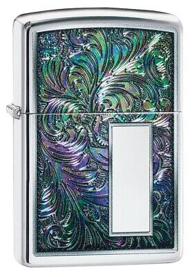 $25.03 • Buy Zippo Colorful Venetian High Polish Chrome Windproof Pocket Lighter, 49139