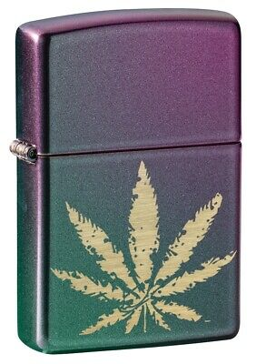 $24.61 • Buy Zippo Marijuana Leaf Iridescent Windproof Pocket Lighter, 49185
