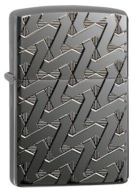 $46.71 • Buy Zippo Armor Geometric Weave High Polish Black Windproof Pocket Lighter, 49173