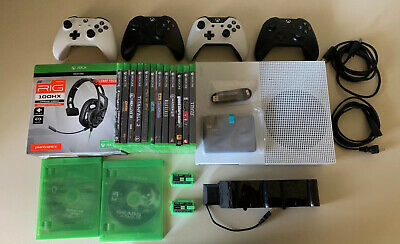 $399.99 • Buy Xbox One S Bundle!! Games, Controllers, Headset, Hard Drive & Charging Station!!