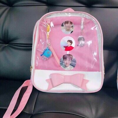 $35 • Buy BTS Boys Backpack 12  Pink With 3pin&2keychain