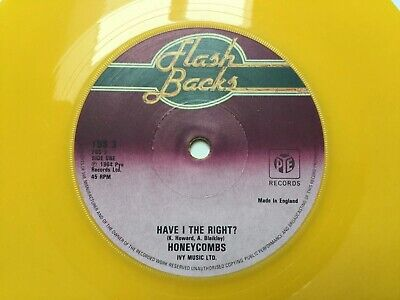 Honeycombs - Have I The Right / That's The Way: Vinyl 7  Yellow: Free UK Post • 4.99£