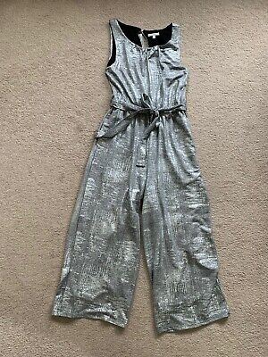 Poetry Silver Jumpsuit Size 12 UK (SA10) • 15£