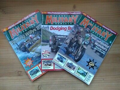 Set Of 3 Issues: Classic Military Vehicles Magazine (2019) • 8.50£