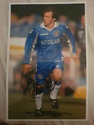 Gianfranco Zola Chelsea Signed Photo 12 X 8. In Very Good Condition • 3.99£