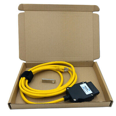 £19.95 • Buy 23.4 V50.3 Data Cable Lead ENET Ethernet To OBD Interface E-SYS ICOM Coding BMW